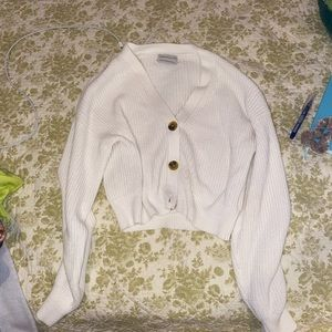 UO Turner Ribbed Button-Down Cardigan